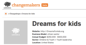 Dreams for Kids' Changeshop